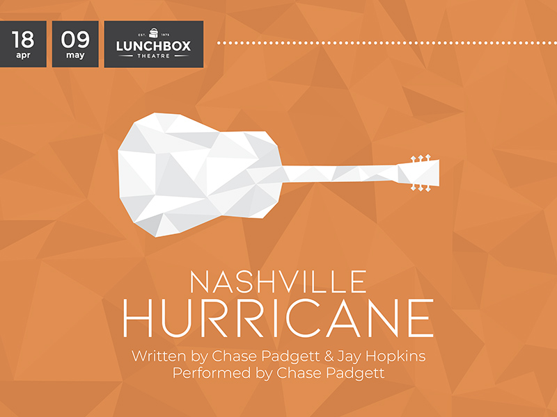 A graphic for Nashville Hurricane at Lunchbox Theatre