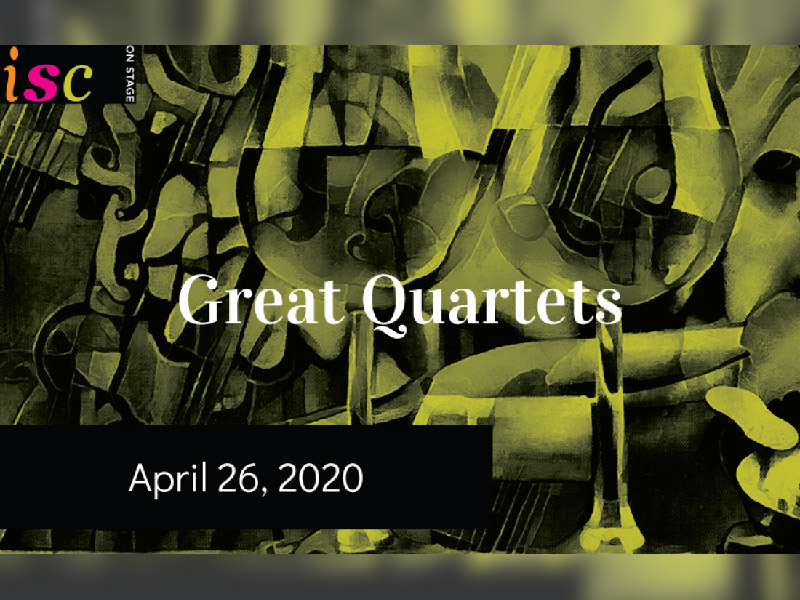A graphic for the Great Quartets concert