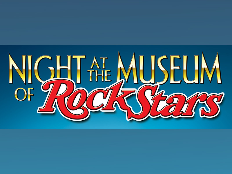 A graphic for Night at the Museum of Rock Stars at Jubilations Dinner Theatre