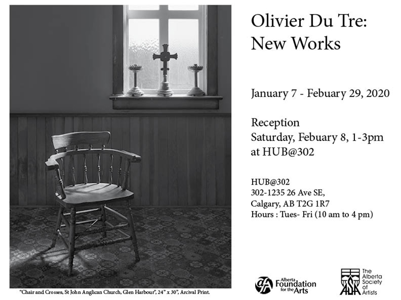 A poster for Olivier Du Tre: New Works