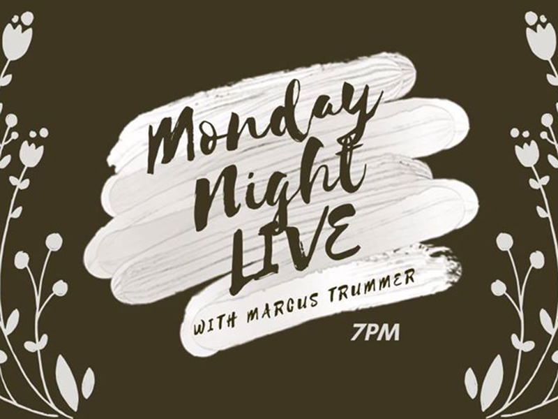 A graphic for Monday Night Live with Marcus Trummer