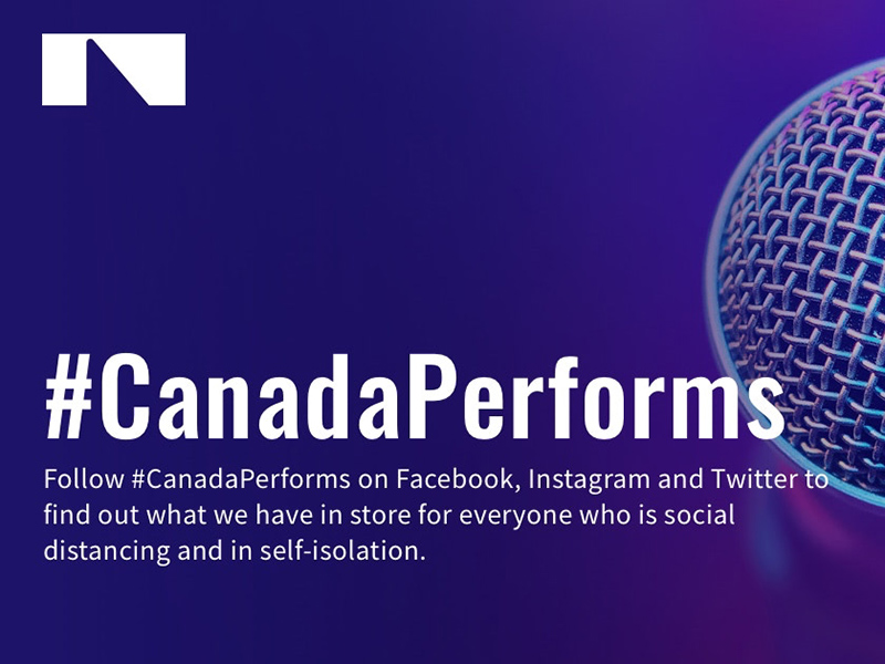 A graphic for #CanadaPerforms