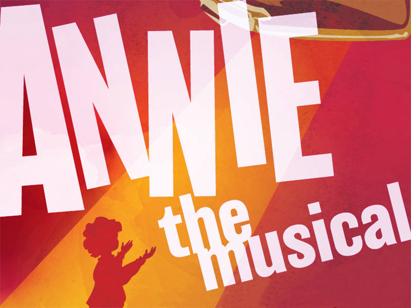 A poster for Annie The Musical at StoryBook Theatre