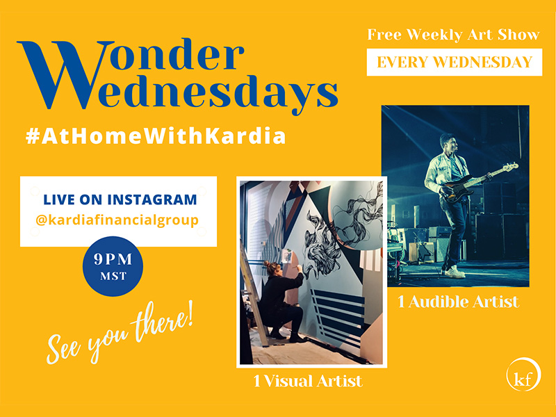A graphic for a Wonder Wednesdays #AtHomeWithKardia