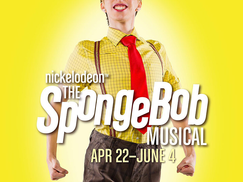 A graphic for The SpongeBob Musical at StoryBook Theatre