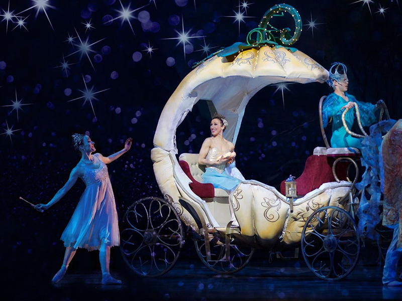 A photo of the carriage in Alberta Ballet's production of Cinderella