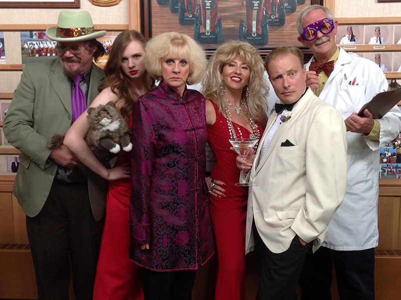 The cast of The Spy Who Liked Me in their costumes