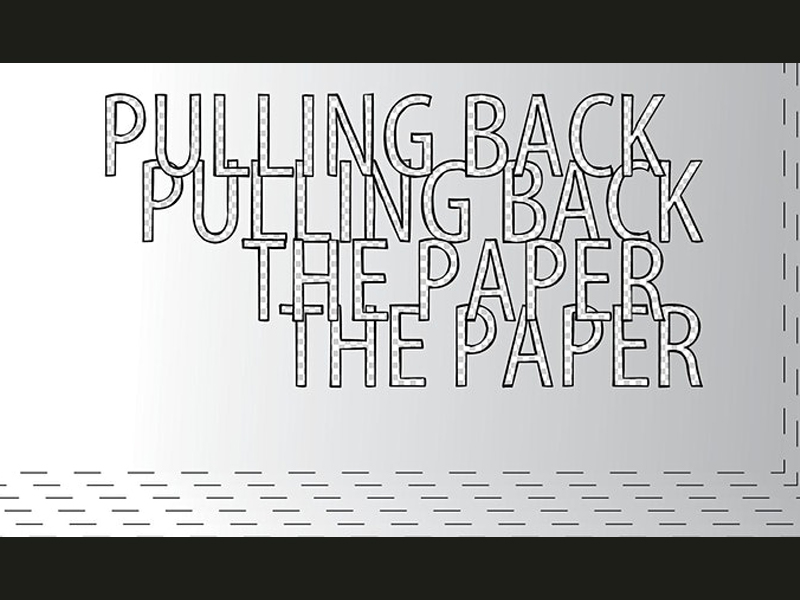 An image of text for Pulling Back the paper