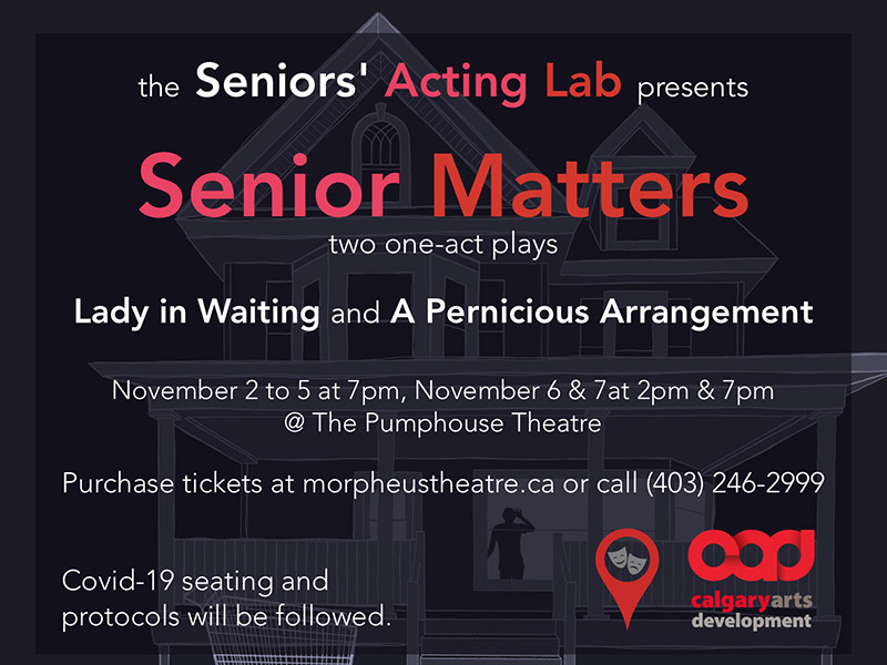 A graphic for Senior Matters from the Seniors' Acting Lab