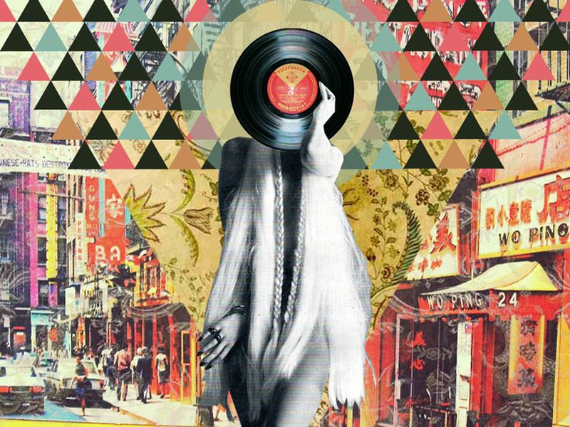An illustration of a vinyl record
