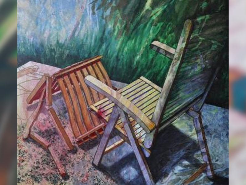 A painting of a chair